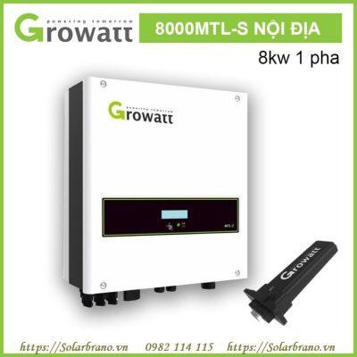 Bộ chuyển đổi inverter Growatt 8000 MTL-S hòa lưới