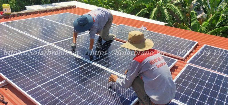 Thi công lắp đặt hệ thống điện mặt trời Bình Thủy