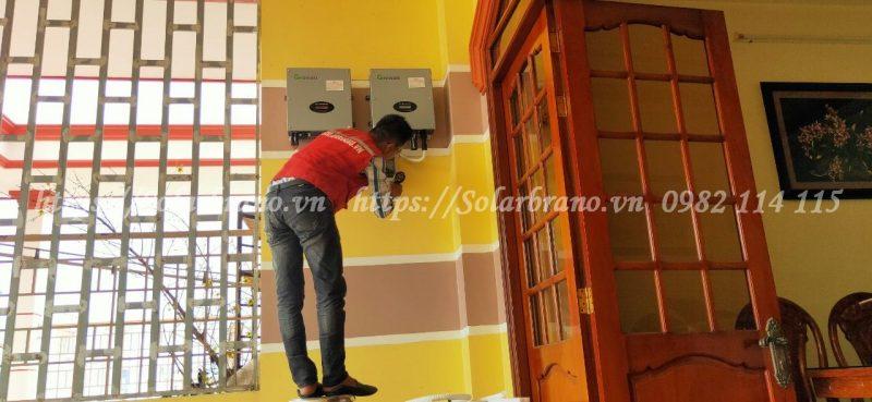 Lắp Inverter hệ thống điện mặt trời hòa lưới tại Bình Tân Vĩnh Long