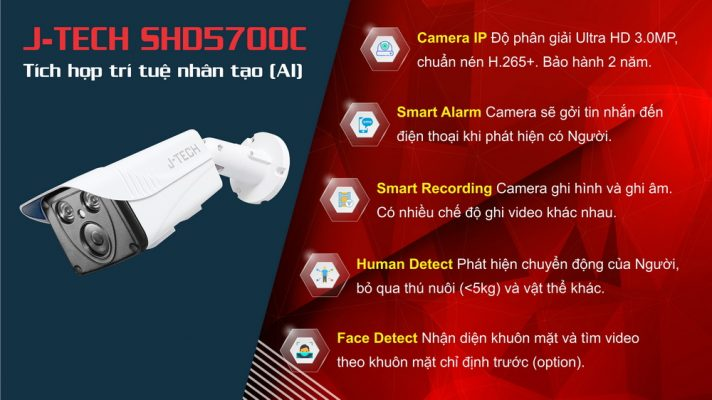 Camera IP J-Tech SHD5700C
