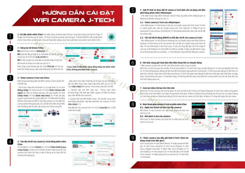 Hướng dẫn cài đặt Camera IP J-Tech